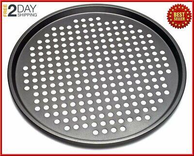 Best Nonstick Pizza Pans and Stones Carbon Steel Tray With Holes 13 (Best Non Stick Pizza Pan)