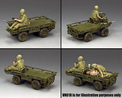 KING & COUNTRY VIETNAM WAR VN017 U.S. MARINE M274 MULE PLATFORM TRUCK MIB