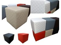 NEW Quilted square puff different colors stool footstool hoker 40x40cm