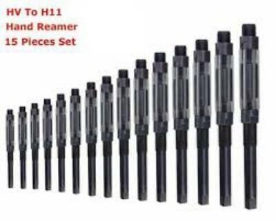 15 Pcs Adjustable Hand Reamer Set H-v To H-11