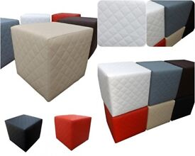 Quilted square puff