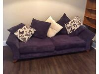 Large purple fabric sofa - CENTRAL CARDIFF - need gone!