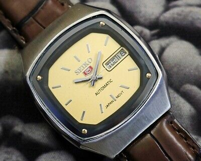 SEIKO 5 AUTOMATIC CAL.7009 MEN'S JAPAN REFURBISHED USED OLD VINTAGE WATCH 271519