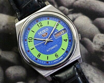 SEIKO 5 AUTOMATIC CAL.7019 MEN'S JAPAN REFURBISHED USED OLD VINTAGE WATCH 200128