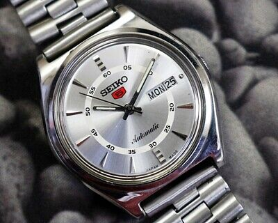 SEIKO 5 AUTOMATIC CAL.6309 MEN'S JAPAN REFURBISHED USED OLD VINTAGE WATCH 200104