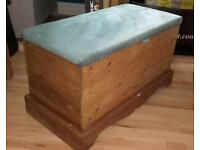 Blanket Box in Solid Pine Dralon Covered Top