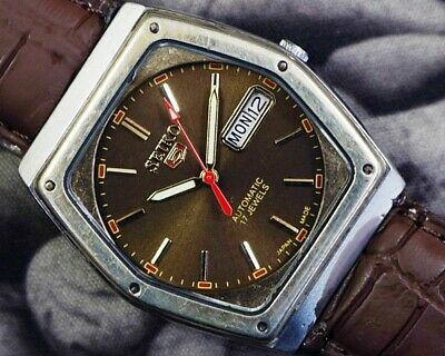 SEIKO 5 AUTOMATIC CAL.6319 MEN'S JAPAN REFURBISHED USED OLD VINTAGE WATCH 531004
