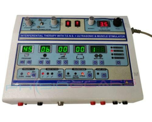 COMBO(IFT+MS+TENS+US) Digital combination Physiotherapy Electro therapy Machine