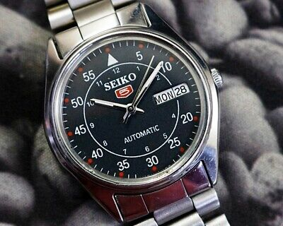 SEIKO 5 AUTOMATIC CAL.6309 MEN'S JAPAN REFURBISHED USED OLD VINTAGE WATCH 200120