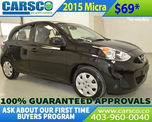 2015 Nissan Micra $0 DOWN BI WEEKLY PAYMENTS $69