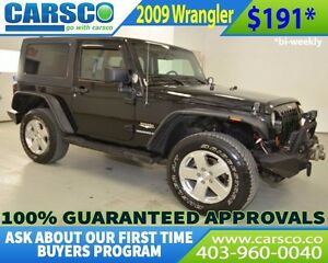2009 Jeep Wrangler $0 DOWN BI WEEKLY PAYMENTS $191