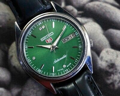 SEIKO 5 AUTOMATIC CAL.7019 MEN'S JAPAN REFURBISHED USED OLD VINTAGE WATCH 200103