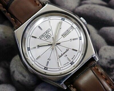 SEIKO 5 AUTOMATIC CAL.6309 MEN'S JAPAN REFURBISHED USED OLD VINTAGE WATCH 271523