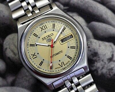 SEIKO 5 AUTOMATIC CAL.7009 MEN'S JAPAN REFURBISHED USED OLD VINTAGE WATCH 162710