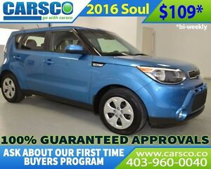2016 Kia Soul $0 DOWN BI WEEKLY PAYMENTS $109