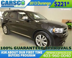 2013 Dodge Durango $0 DOWN BI WEEKLY PAYMENTS $221