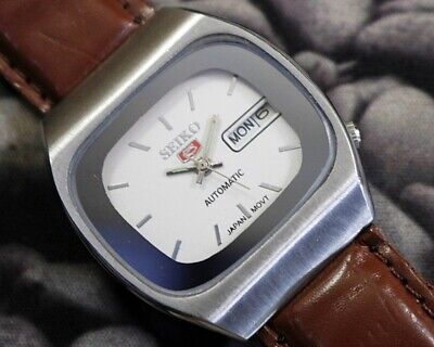SEIKO 5 AUTOMATIC CAL.6319 MEN'S JAPAN REFURBISHED USED OLD VINTAGE WATCH 271532