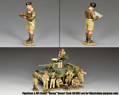KING & COUNTRY EIGHTH ARMY EA108 BRITISH TANK COMMANDER WITH MAP MIB