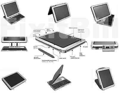 HP Compaq TC1100 Convertible Laptop / Tablet - Touch Screen Pen -Windows 8 AS-IS
