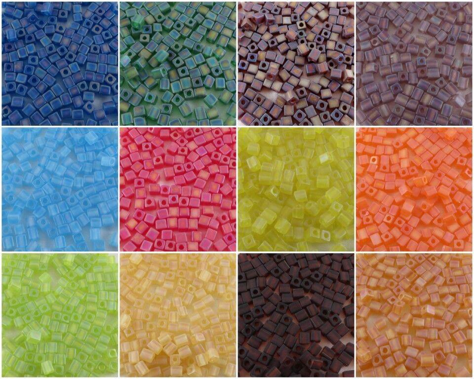 4 mm CUBE Miyuki Square Japanese Seed Beads   #131-149S 20g