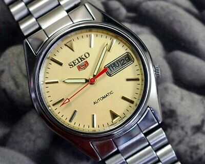 SEIKO 5 AUTOMATIC CAL.7009 MEN'S JAPAN REFURBISHED USED OLD VINTAGE WATCH 200129