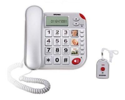 Brondi Super Bravo Plus gross Tasten Telefon mit Notrufmelder !!!! Top Zustand