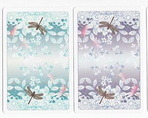 Swap Cards ~ DRAGONFLIES AND FLOWERS ~ Mirror Image Pair