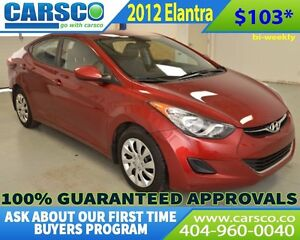 2012 Hyundai Elantra GLS ONLY 27000 KM  LIKE NEW
