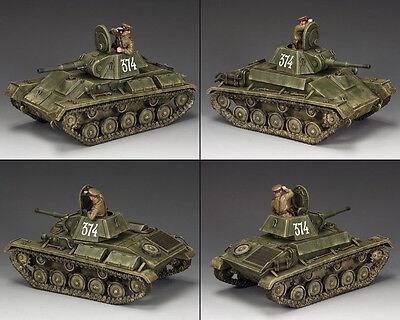 как выглядит Военная игрушка периода 1970 - настоящее время RA054 Russian T-70 Tank by King & Country фото