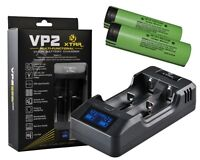 Xtar Vp2 - Litio Iones Cargador + 2x Panasonic Ncr18650b (3400mah) - panasonic - ebay.es