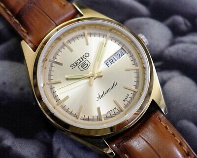 SEIKO 5 AUTOMATIC MEN'S JAPAN MOVEMENT REFURBISHED USED OLD VINTAGE WATCH 271517
