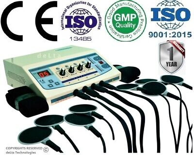 Professional Electrotherapy 4 Channel Pain Relief Massager Physiotherapy Machine