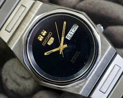 SEIKO 5 AUTOMATIC CAL.6349 MEN'S JAPAN REFURBISHED USED OLD VINTAGE WATCH 860624