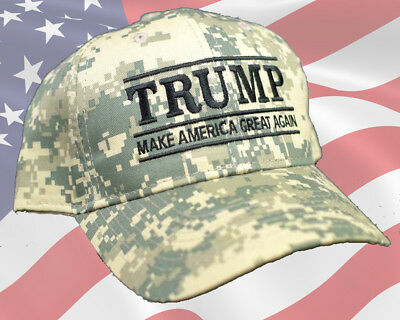 Donald Trump Make America Great Again Digital Camo Design Hat Embroidered