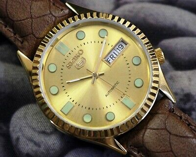 SEIKO 5 AUTOMATIC MEN'S JAPAN MOVEMENT REFURBISHED USED OLD VINTAGE WATCH 271520
