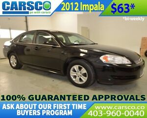 2012 Chevrolet Impala $0 DOWN BI WEEKLY PAYMENTS $63