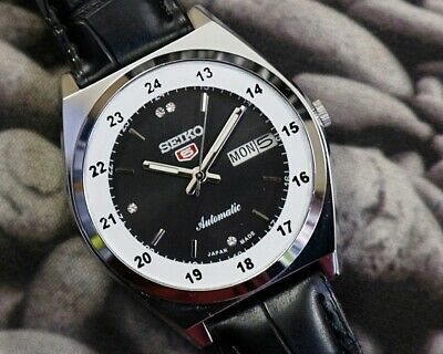 SEIKO 5 AUTOMATIC MEN'S JAPAN MOVEMENT REFURBISHED USED OLD VINTAGE WATCH 200119
