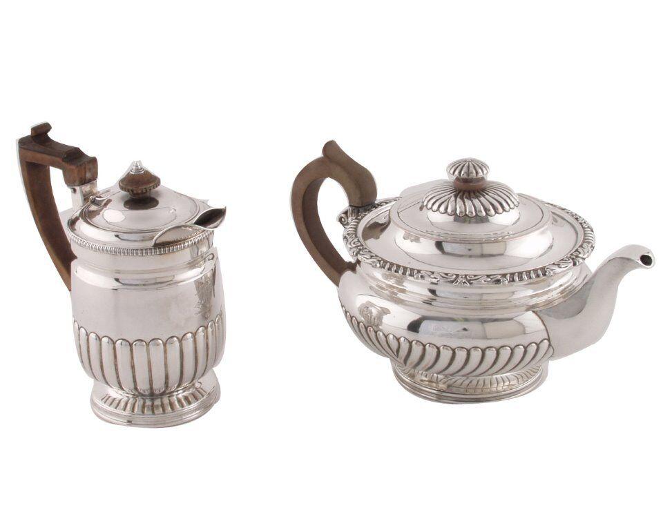 Matthew Boulton Rolled Sheffield Plate Coffee Biggin &Tea Pot Circa 1800
