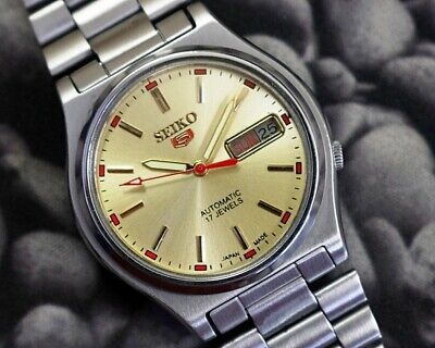 SEIKO 5 AUTOMATIC CAL.7009 MEN'S JAPAN REFURBISHED USED OLD VINTAGE WATCH 200124