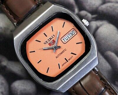 SEIKO 5 AUTOMATIC CAL.6309 MEN'S JAPAN REFURBISHED USED OLD VINTAGE WATCH 231117