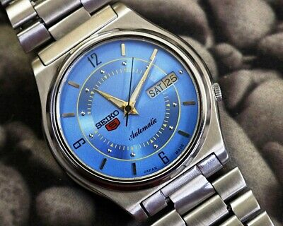 SEIKO 5 AUTOMATIC CAL.7009 MEN'S JAPAN REFURBISHED USED OLD VINTAGE WATCH 200125
