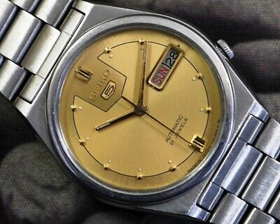 SEIKO 5 AUTOMATIC CAL.7019 MEN'S JAPAN REFURBISHED USED OLD VINTAGE WATCH 880815