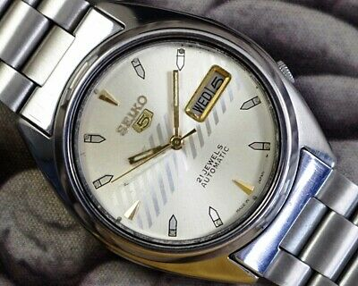 SEIKO 5 AUTOMATIC CAL.7019 MEN'S JAPAN REFURBISHED USED OLD VINTAGE WATCH 601702