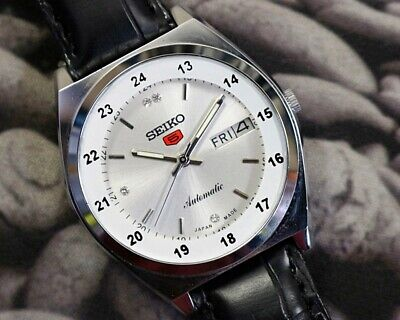 SEIKO 5 AUTOMATIC MEN'S JAPAN MOVEMENT REFURBISHED USED OLD VINTAGE WATCH 200102