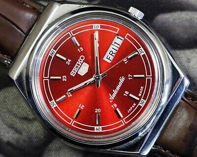 SEIKO 5 AUTOMATIC CAL.6319 MEN'S JAPAN REFURBISHED USED OLD VINTAGE WATCH 952206
