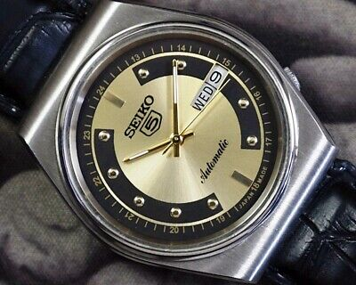 SEIKO 5 AUTOMATIC CAL.6319 MEN'S JAPAN REFURBISHED USED OLD VINTAGE WATCH 952201