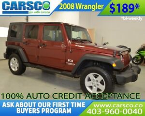 2008 Jeep Wrangler $0 DOWN BI WEEKLY PAYMENTS $189