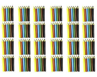 24x 6 Buntstifte Mini 8,5 cm im Kartonetui Farbstifte Malstifte Holzbuntstifte