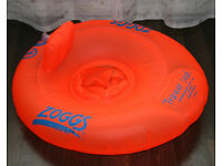 Zoggs Baby Trainer Seat Orange 3-12 Months in excellent condition