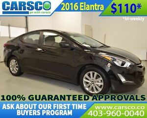 2016 Hyundai Elantra $0 DOWN BI WEEKLY PAYMENTS $110